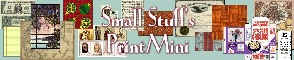graphic about Free Printable Minis identify Very low Stuffs PrintMini: Printable Dollhouse Miniatures