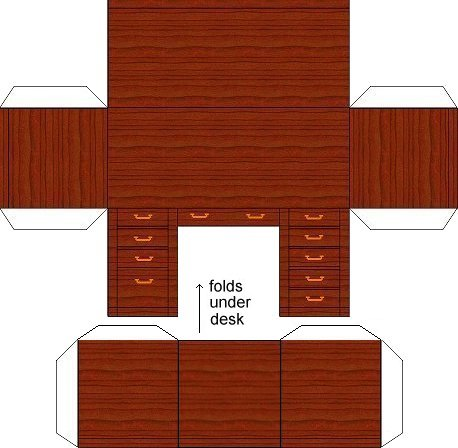 Deskh on Mini Miniature Dollhouse Furniture