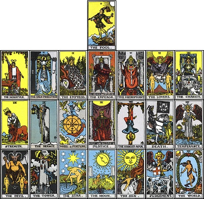Critical image in free printable tarot cards