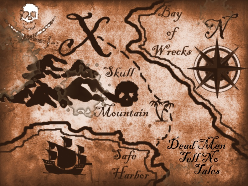 Geeky image in free printable pirate treasure map
